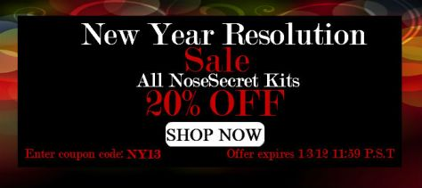 NoseSecret New Year Sale