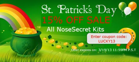 NoseSecret St.Patricks Day Sale