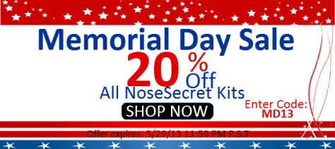 Memorial Day 20% Off Sale