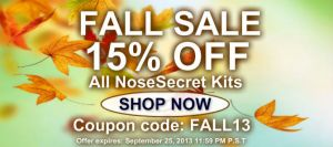 NoseSecret Fall Sale 15% off kits