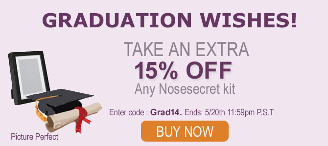 Congratulations to all our College Grads, From Nose Secret!