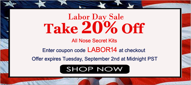Nose Secret Labor Day Sale