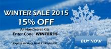 NoseSecret Winter Sale 2015 - 15% Off all kits - Enter code: WINTER15 - Ends Jan 16